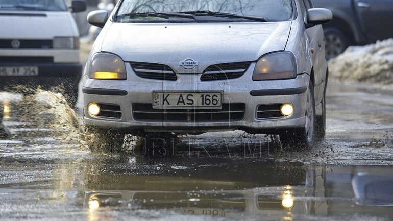 Drivers and pedestrians are urged to be careful as rain made roads slippery