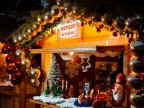 Winter Wonderland in Orhei. People are enjoying the Christmas Fair