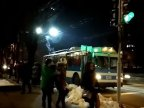 Pantograph of trolleybus suddenly got on fire on București st. of Chisinau