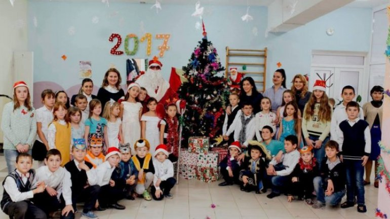 Children from placement center awarded gifts of Foundation Edelweiss's Santa Claus