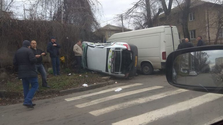 Grave Accident! Taxi crushed after impact with minivan on Belinski Street from Capital