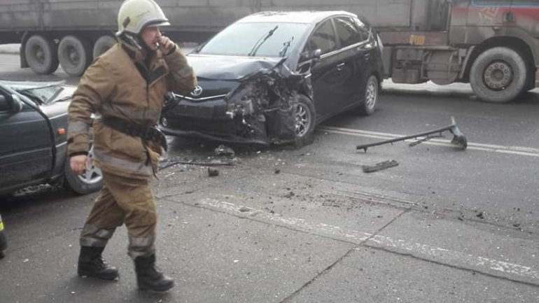Grave accident at Chisinau City Gates. Two cars collided