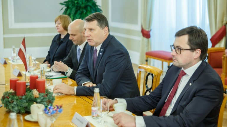 President of Latvia, Raimonds Vejonis expressed his full support toward Republic of Moldova's European track