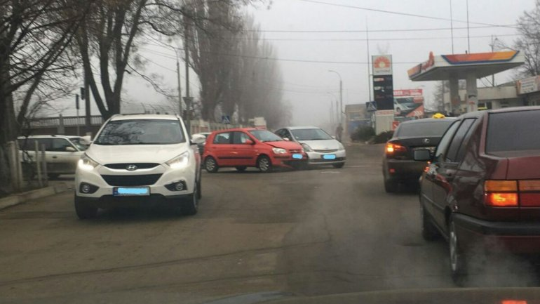 Car accident in Capital registered at intersection of Vissarion Belinski with Ion Pelivan streets