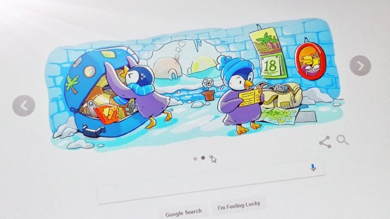 Google Doodle marks December global festivities featuring a penguin family