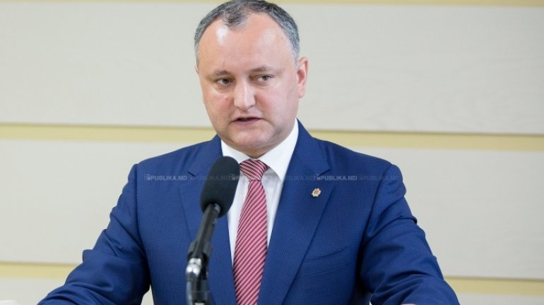 Igor Dodon displeased by settlements that decided to sign declaration of unification with Romania