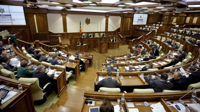 Andrian Candu acted as translator. EU - Moldova Financing Agreement analyzed by deputies
