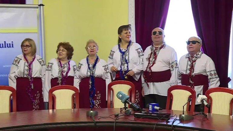Carols were sung today in Chisinau City Hall