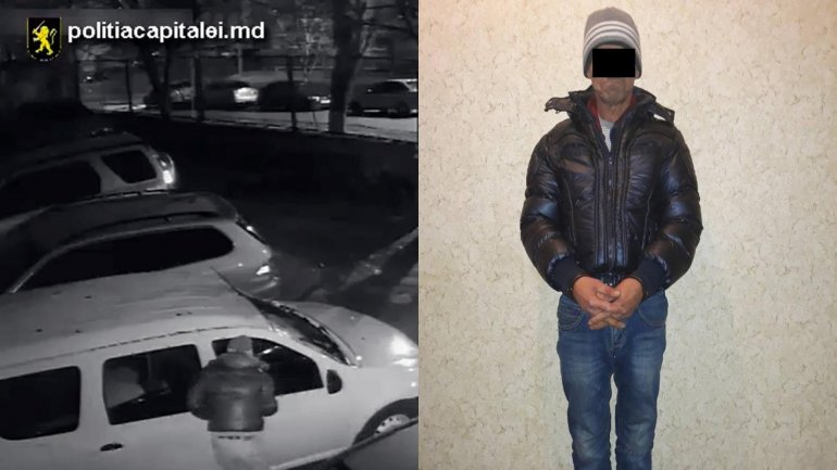 Man arrested for breaking into cars and staling money and valuable goods around Chisinau