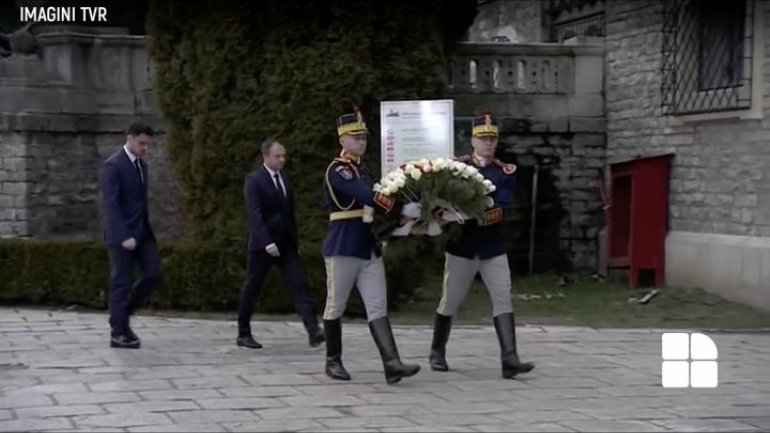 Andrian Candu and Moldova Delegation at Romanian Former-King's funeral