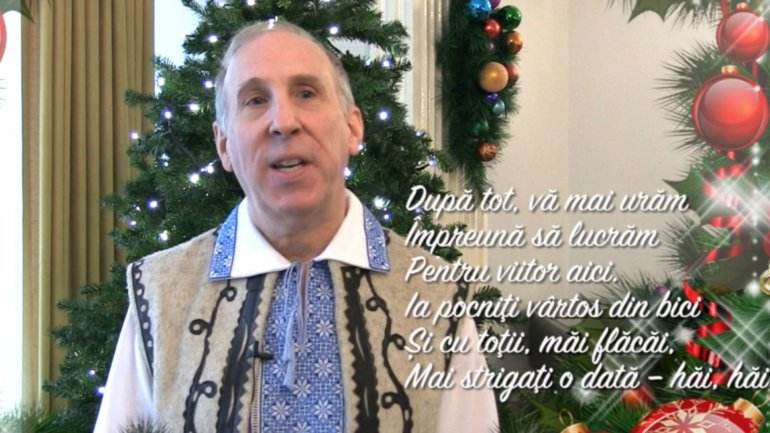 U.S Embassy in Chisinau publicized romanian-language video to wish Moldova's citizens beautiful holiday