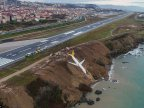 Passenger jet skidded off an icy runway and nearly fell into the sea with 168 people onboard in Turkey