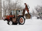 Generate revenue all year round. Entrepreneur from Chisinau uses tractors in construction and for snow clearing