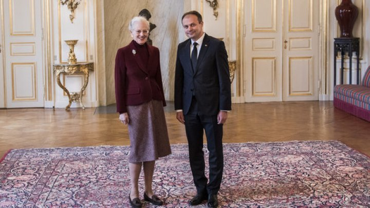 Andrian Candu met with Her Majesty Margaret II of Denmark at Royal Residence Amalienborg Palace