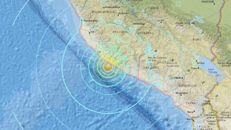 7.1 magnitude earthquake struck Peru. At least 2 dead and over 65 injured