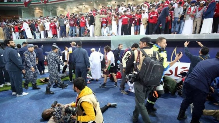 40 people injured as glass barrier collapsed at a stadium in Kuwait