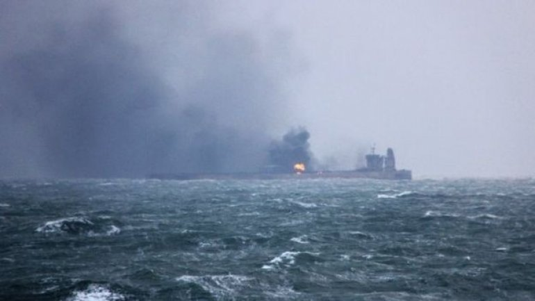 Oil tanker still burning after more than 60 hours since collision with cargo ship