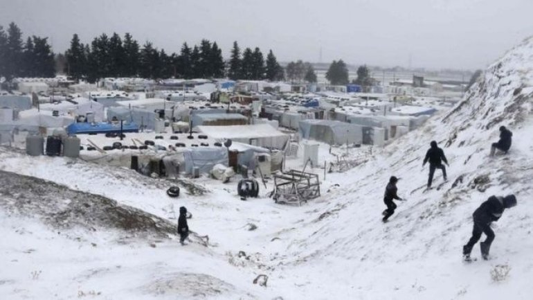 Fifteen Syrian refugees, including children, found frozen to death while attempting to flee to Lebanon