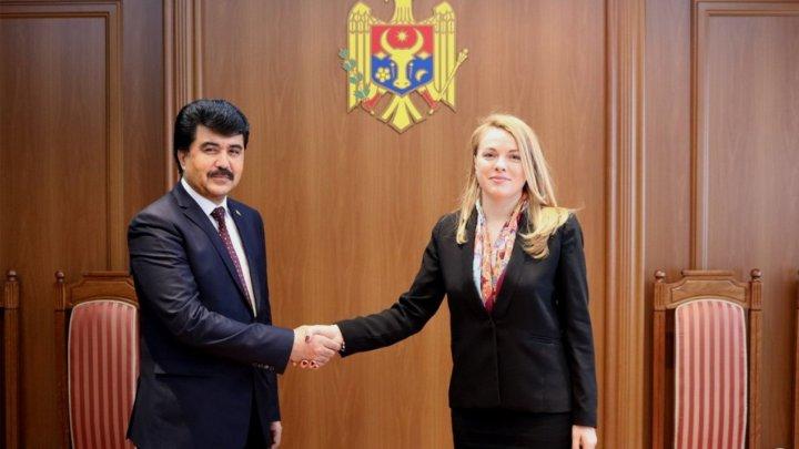 Secretary of State Tatiana Molcean welcomed Tajikistan Ambassador to Moldova, Fayzullo Kholboboev