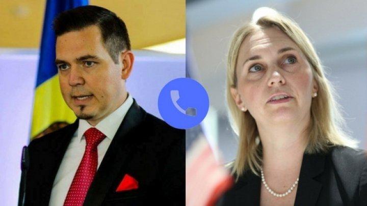 Minister Tudor Ulianovschi spoke over the phone with U.S. Deputy Assistant Secretary, Bridget Brink