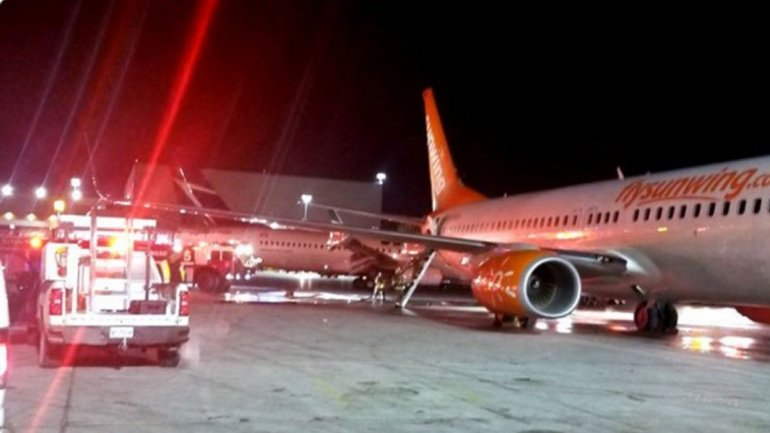 Two airplanes collided at Toronto Pearson International Airport. One person injured