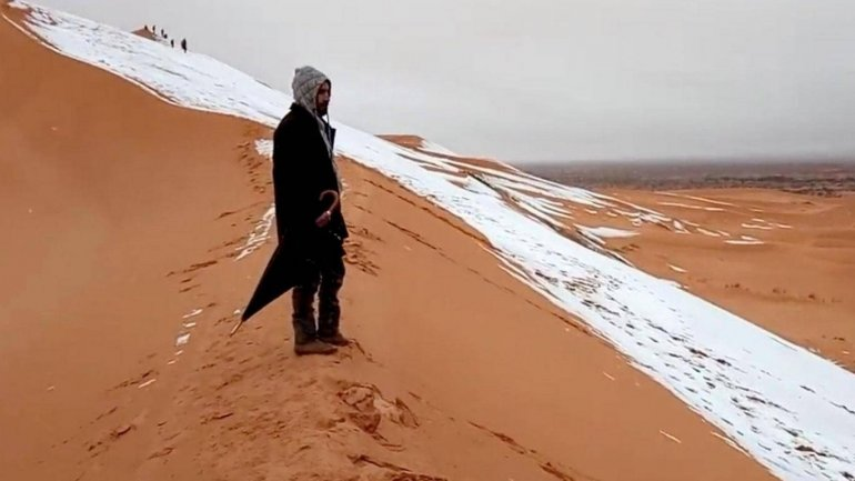 Sahara sees snow for the third time in 40 years