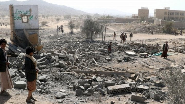 Airstrike in northern Yemen. At least 15 dead and several more injured