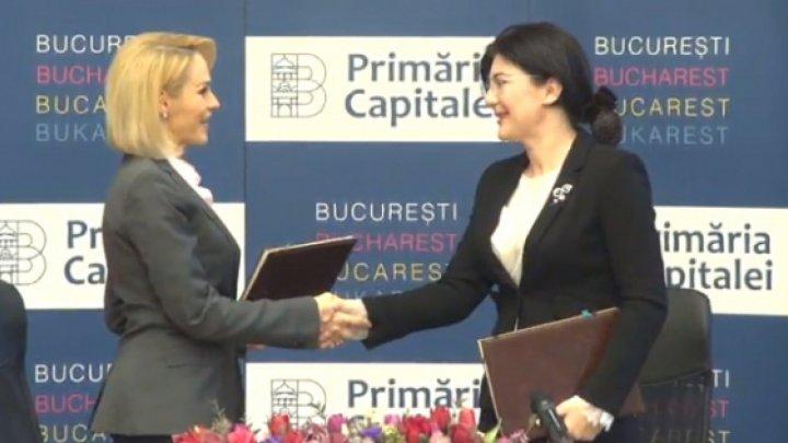 Silvia Radu and Gabriela Firea signed Cooperation Program between Chisinau and Bucharest