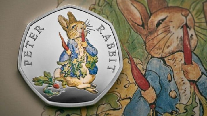 Four new 50 pence coins to be released featuring Beatrix Potter's favorite fictional characters