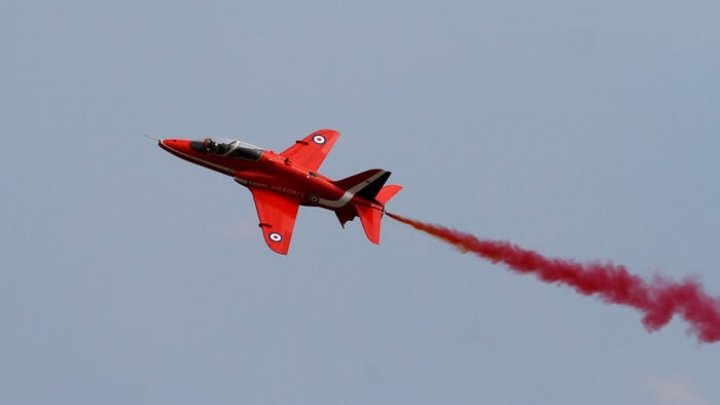 Red Arrows jet with two crew onboard crashes at RAF Valley in north Wales