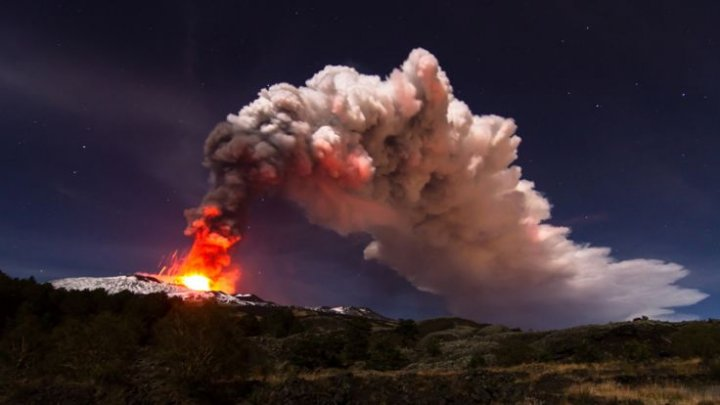 Europe's most active volcano, Mount Etna, is sliding towards the sea