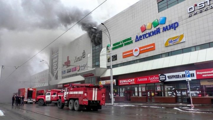 Russia shopping mall fire kills at least 53 including children