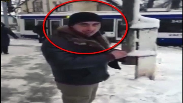 A man wanted for stealing surveillance cameras in Chisinau (video)