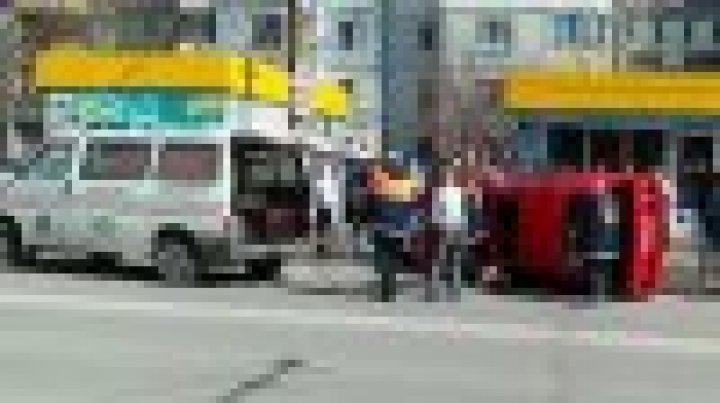 Spectacular accident in Poşta Veche (video)