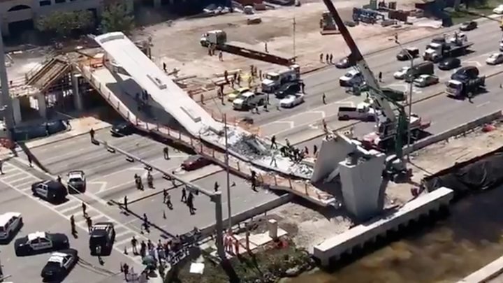 Florida university bridge collapse  killing at least six, officials say