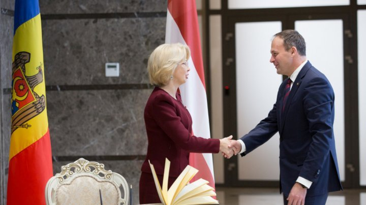 Latvia pledges support for Moldova's European agenda. Speaker of Saeima welcomed in Parliament meeting
