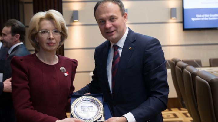 Latvia pledges support for Moldova's European agenda. Speaker of Saeima welcomed in Parliament meeting