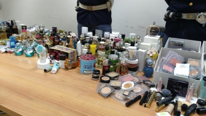 A Moldovan and two colleagues caught stealing perfumes from a duty free shop in Italy