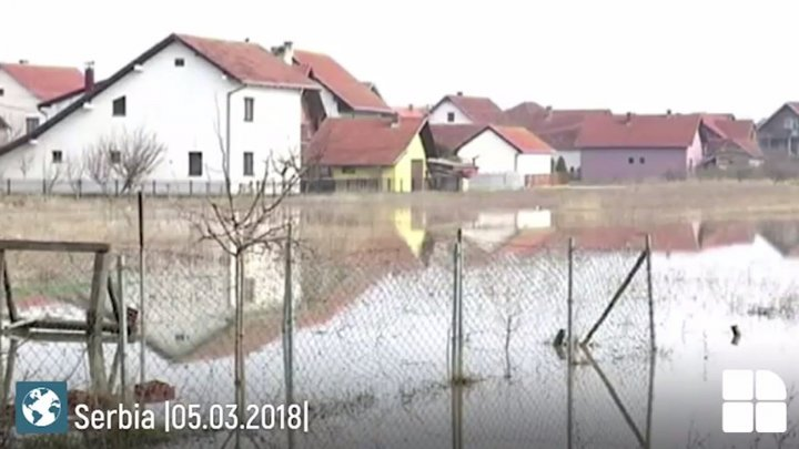 AP: Melting snow swells rivers in Serbia, raising flood alarms (video)