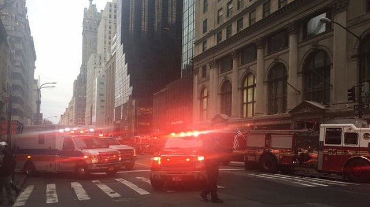 Blaze on 50th floor of Trump Tower in New York. Man, 67, killed and four firefighters injured