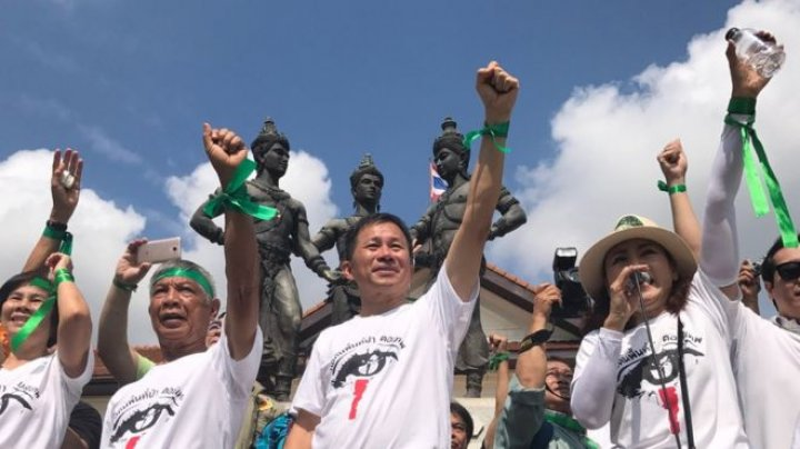 Thailand protesters in one of country's biggest rallies against luxury housing development