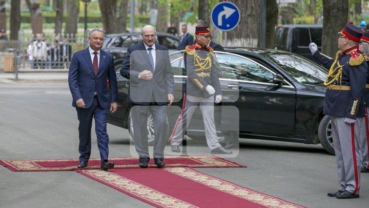 Belarusian President Aleksandr Lukashenko on official visit to Moldova