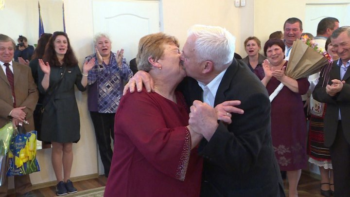 A couple from Ştefan Vodă are celebrating their golden anniversary