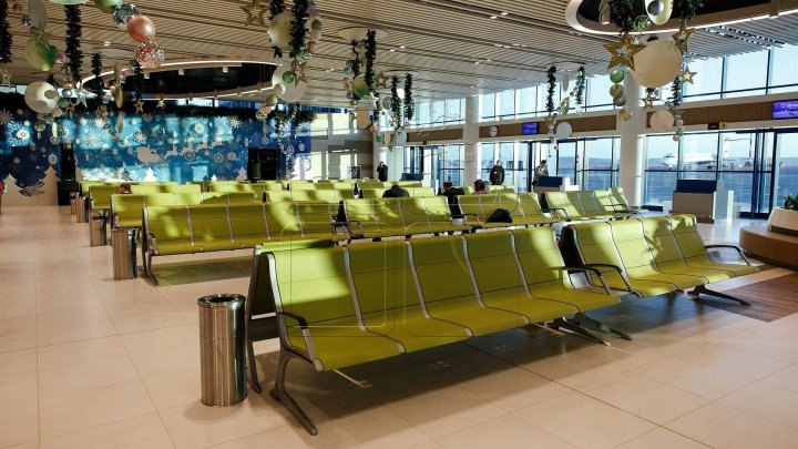 Departure hall of Chisinau Airport repaired. How it looks like after renovation