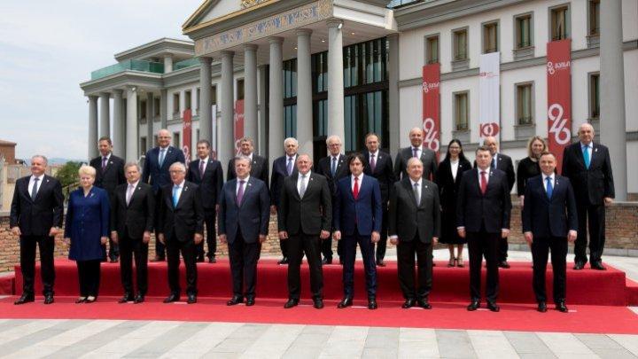 Andrian Candu at ceremony on 100th anniversary since Georgian Republic establishment