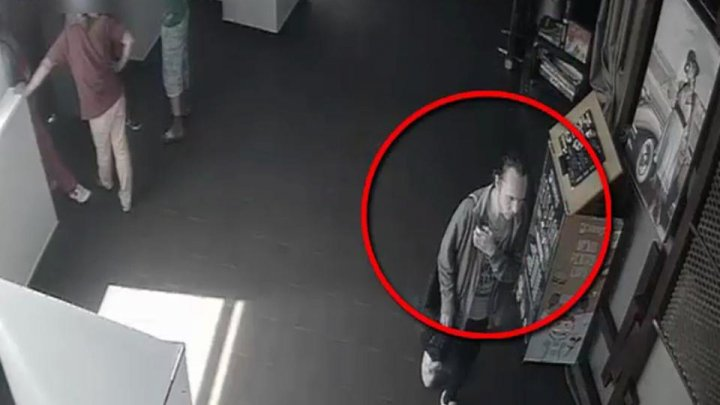 Thief searched by police for stealing handbag with expensive goods in Chisinau commercial center