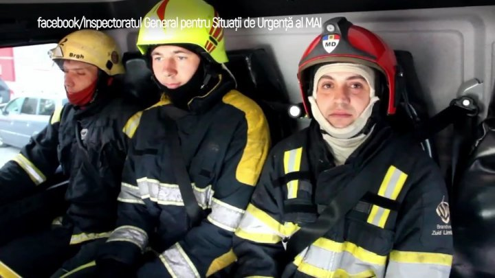 Rescuers, firefighters and SMURD employees posted photographs showing them with their seat belts fastened