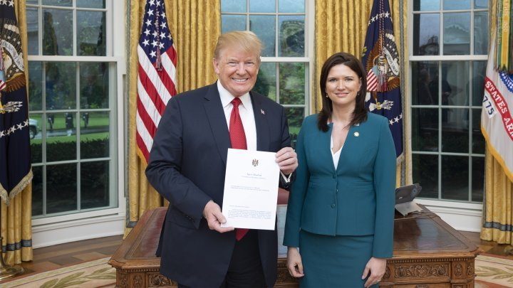 Ambassador Cristina Balan presented letters of accreditation to US President Donald Trump