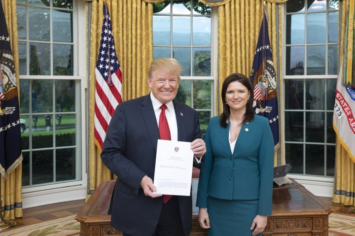 Ambassador Cristina Balan presented letters of accreditation to US President Donald Trump