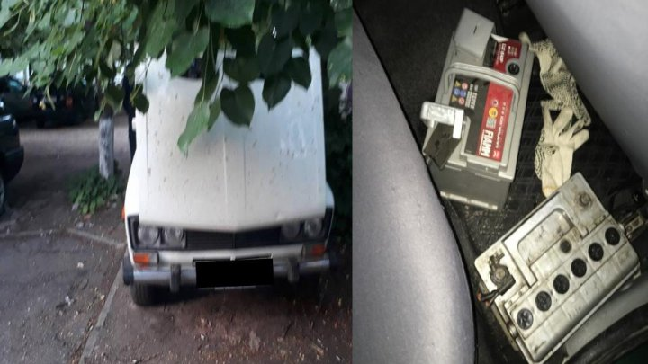 Two men arrested for stealing automotive batteries in Chisinau